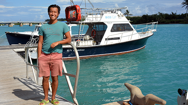 <p> 	Cawthorn Cambridge Intern Scott Li studied modeling radiative transfer effects in coral reef remote sensing.</p>