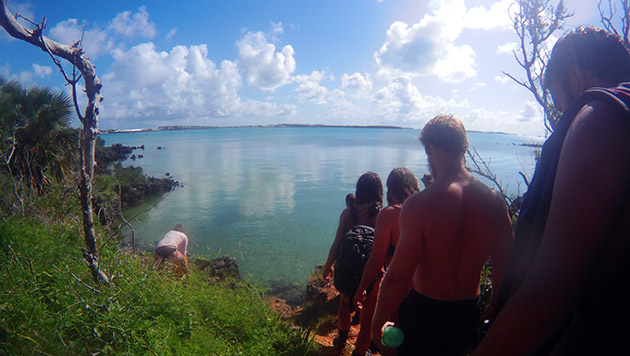 <p> 	Students take a field trip to explore Bermuda's cave systems around Castle Harbour and Blue Hole Park.</p>