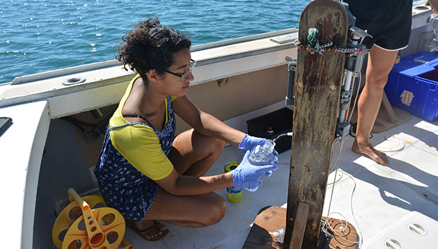 <p> 	Lakshmi Magon&#39;s research project focused on marine bacterioplankton succession and overturn at Devil&#39;s Hole, in Harrington Sound, Bermuda. Specifically, she looked for inter-annual variations of specific baterioplankton lineages during periods of low oxygen.</p>