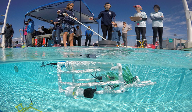 <p> 	2018 MARINE ROV challenge. Photo by Weldon Wade.</p>