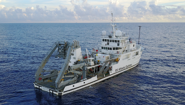 <p> 	R/V<em> Atlantic Explorer </em>at sea.</p>