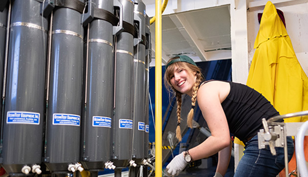 <p> 	Annaliese, an undergraduate student in microbiology at the University of Victoria in British Columbia, used her CABIOS internship to research rare earth elements and their role in methane cycling in the ocean. Her work at sea near BIOS included deploying a CTD instrument on the R/V <em>Atlantic Explorer</em>.</p>