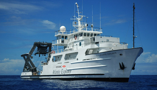 <p> 	The R/V <em>Atlantic Explorer</em>.</p>