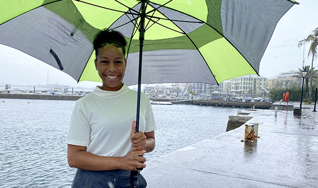 <p> Amber Wolffe is working with Mark Guishard focusing on the effect of wind shear—changes in wind speed or direction over short distances—on aircraft approach at the L.F. Wade International Airport in Bermuda.</p>