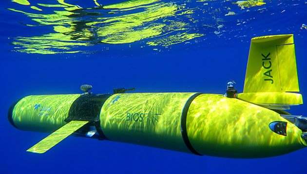 BIOS's autonomous underwater vehicle