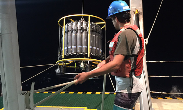 REU student deploys the CTD