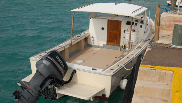 <p> 	26' <em>Sea Dance</em>, an outboard vessel.</p>