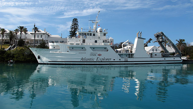 <p> 	R/V Atlantic Explorer at the BIOS dock.</p>