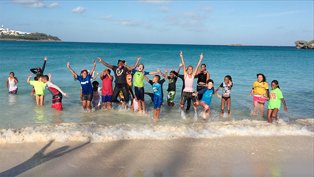 <p> 	Students from Harrington Sound Primary School on their annual BIOS field trip to Cooper&#39;s Island Nature Reserve.</p>