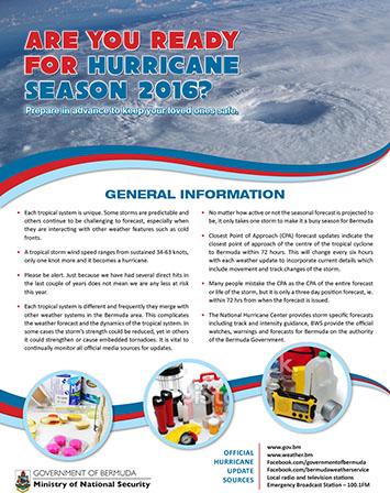 Hurricane preparedness briefing June 1