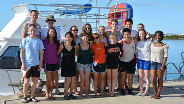 <p> 	Princeton marine biology summer course, class of 2013.</p>