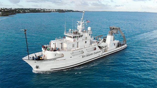 <p> 	Students have the opportunity to particpate in a research cruise on board the UNOLS research vessel<em> Atlantic Explorer </em>as part of the Modern Observational Oceanography course.</p>