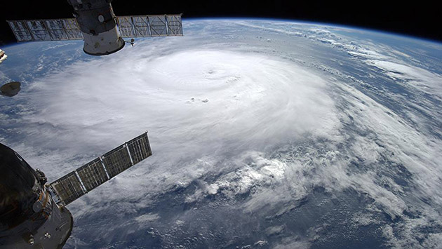 <p> 	Hurricane Gonzalo bears down on Bermuda. Source: NASA</p>