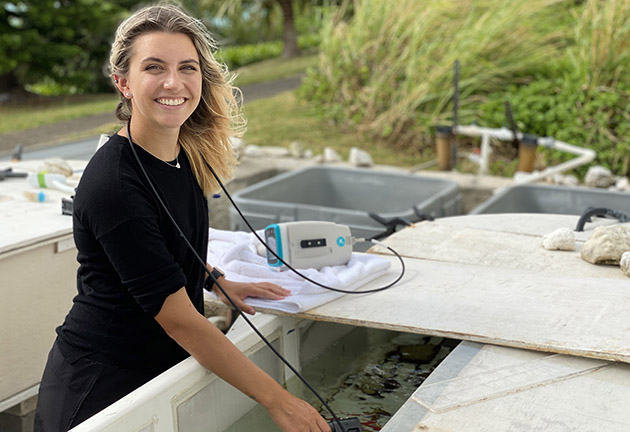<p> 	Shannon Lemieux a student at Oregon State University majoring in fisheries and wildlife sciences with a minor in earth sciences. During her internship at BIOS, she worked with reef systems ecologist Eric Hochberg on a project studying the phenology, or yearly cycle of change, of coral pigment in Bermuda's corals.</p>