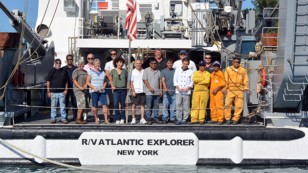 <p> 	R/V <em>Atlantic Explorer</em> crew.</p>