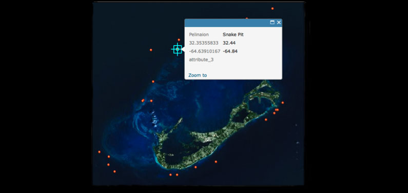 <p> 	Use ArcGIS online to create a map showing species frequency of fish in Bermuda.</p>
